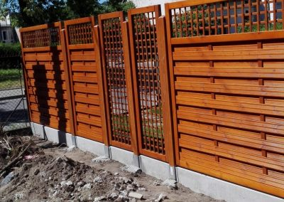 ogrodzenie drewniane 4