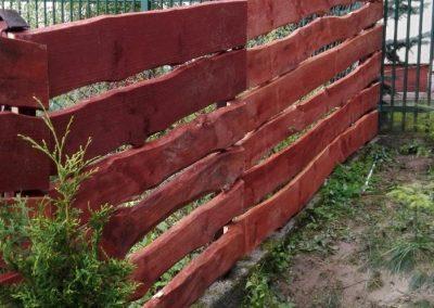 ogrodzenie drewniane kraków ul. tymotkowa