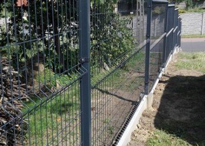 panel ogrodzeniowy grafitowy