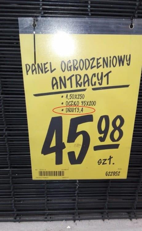 cena panela ogrodzeniowego