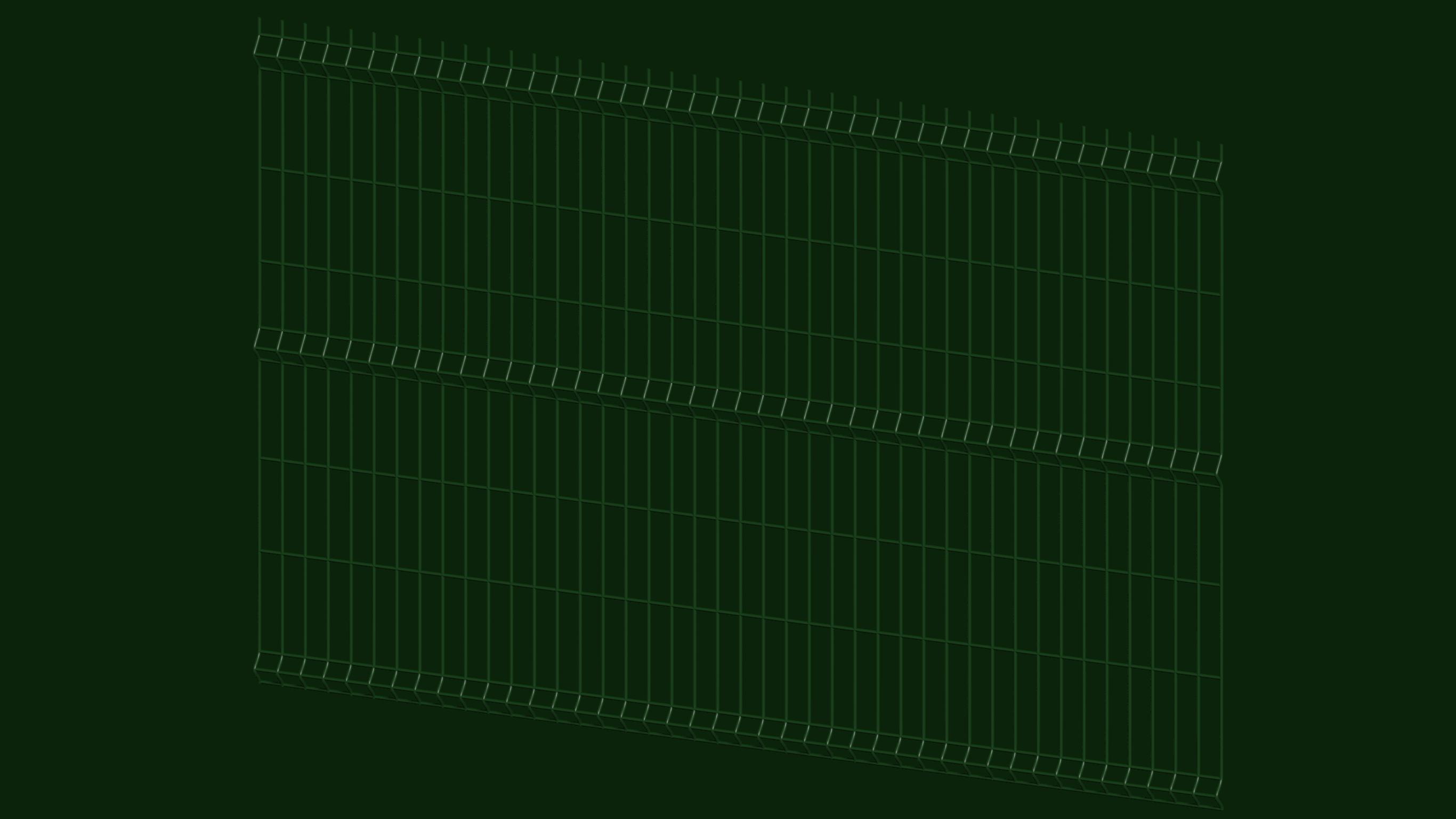 ogrodzenie panelowe zielone bok