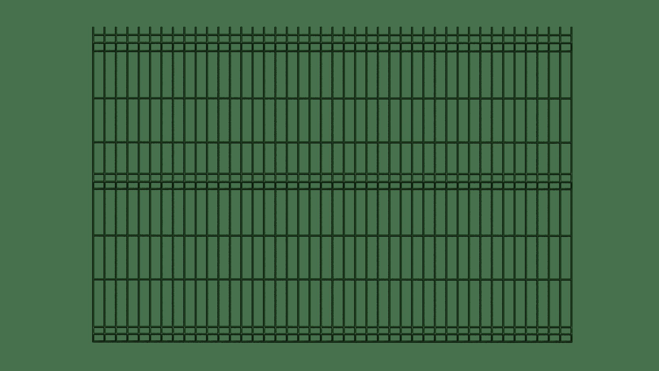 ogrodzenie paneloweg zielone przód