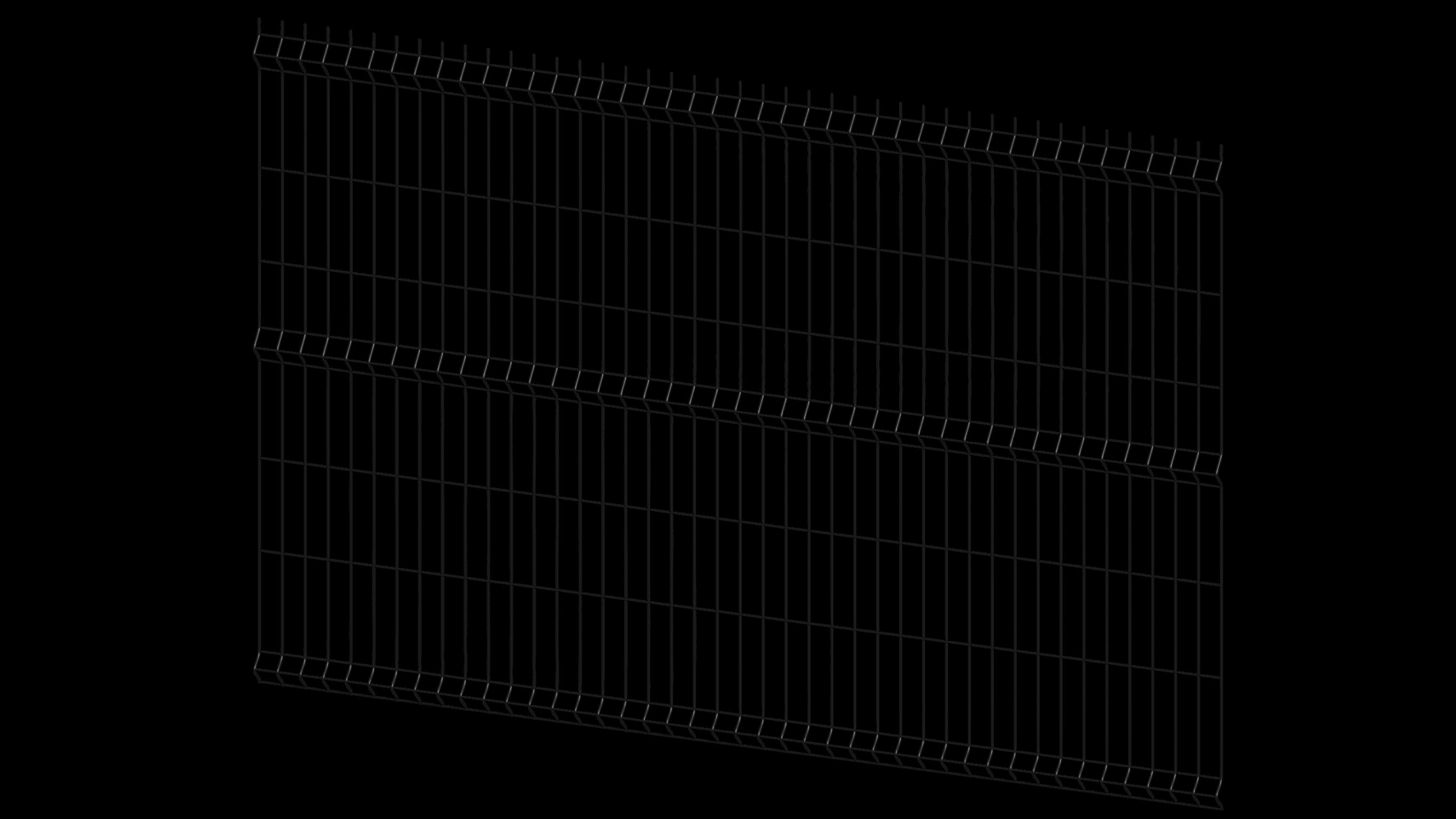 panel ogrodzeniowy czarny bok