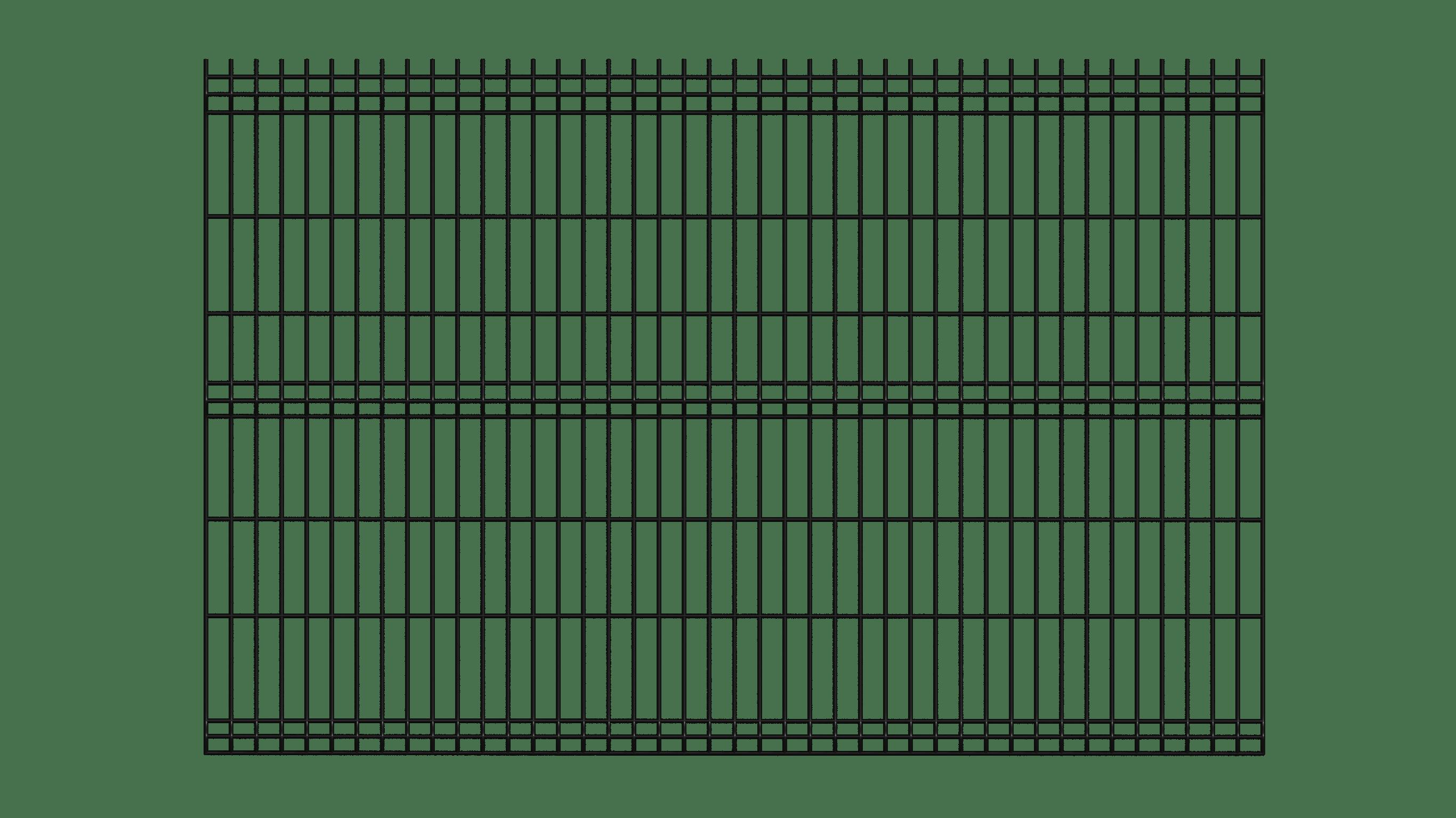 panel ogrodzeniowy czarny przód