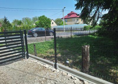 panel ogrodzeniowy czarny
