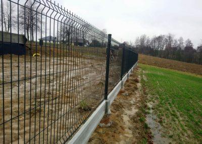 panel ogrodzeniowy i podmurówka