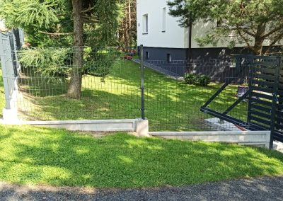 stopniowane ogrodzenie panelowe tłuczań