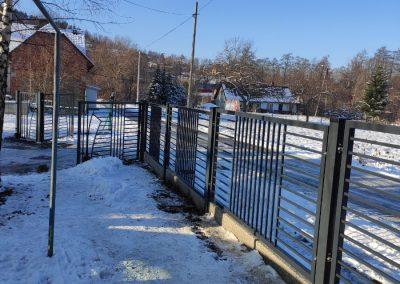 ogrodzenie metalowe w targanicach